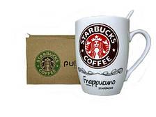Чашка керамическая Starbucks с ложкой Brown (gr006488)