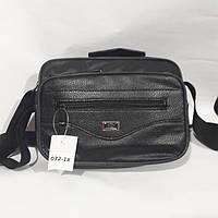 Черная мужская сумка на плечо, фото 1