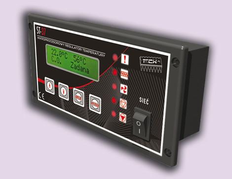 Регулятор управления твердотопливным котлом Tech ST-37.  Автоматика ST-37 для твердотопливного котла
