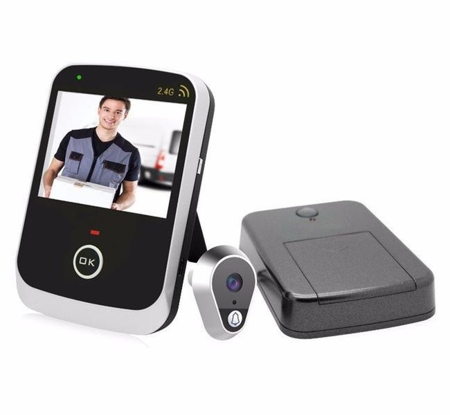 Видеоглазок дверной Wifi Kivos KDB 307A с беспроводным монитором (02229D)
