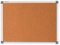 Доска пробковая 90х120cм. в алюминиевой рамке Buromax BM.0018