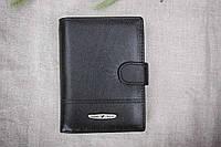 Мужское кожаное портмоне с отделом для документов Tailian чёрный 1-227
