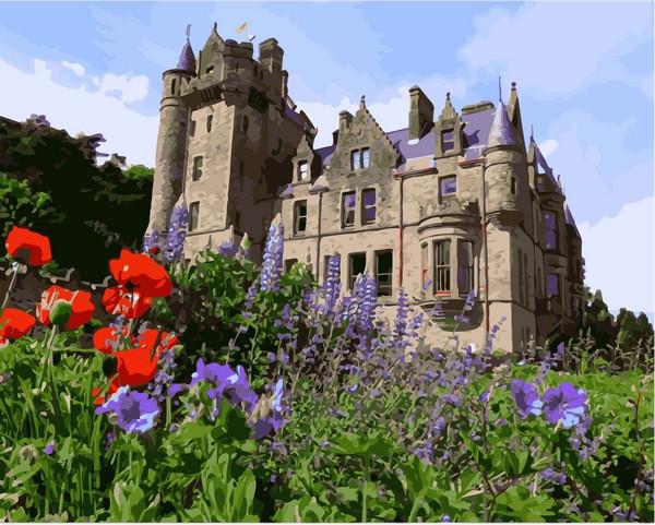 Картины по номерам 40×50 см. Замок Белфаст