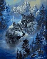 Картины по номерам 40×50 см. Волк и волчица, фото 1