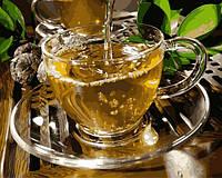 Картины по номерам 40×50 см. Чашка зеленого чая, фото 1