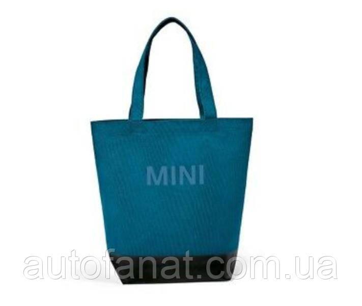 Оригінальна господарська сумка-шоппер MINI Colour Block Shopper, Black/Island (80222460862)
