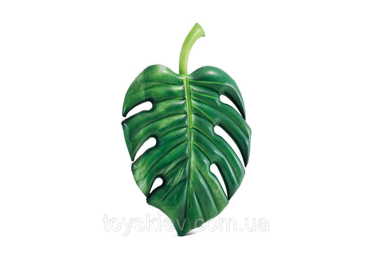 Надувной плотик матрас Intex 58782 «Пальмовый лист», 213 х 142 см
