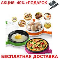 Яйцеварка сковородка электрическая Multifunction Steaming device  Mini Original size + нож- визитка, фото 1