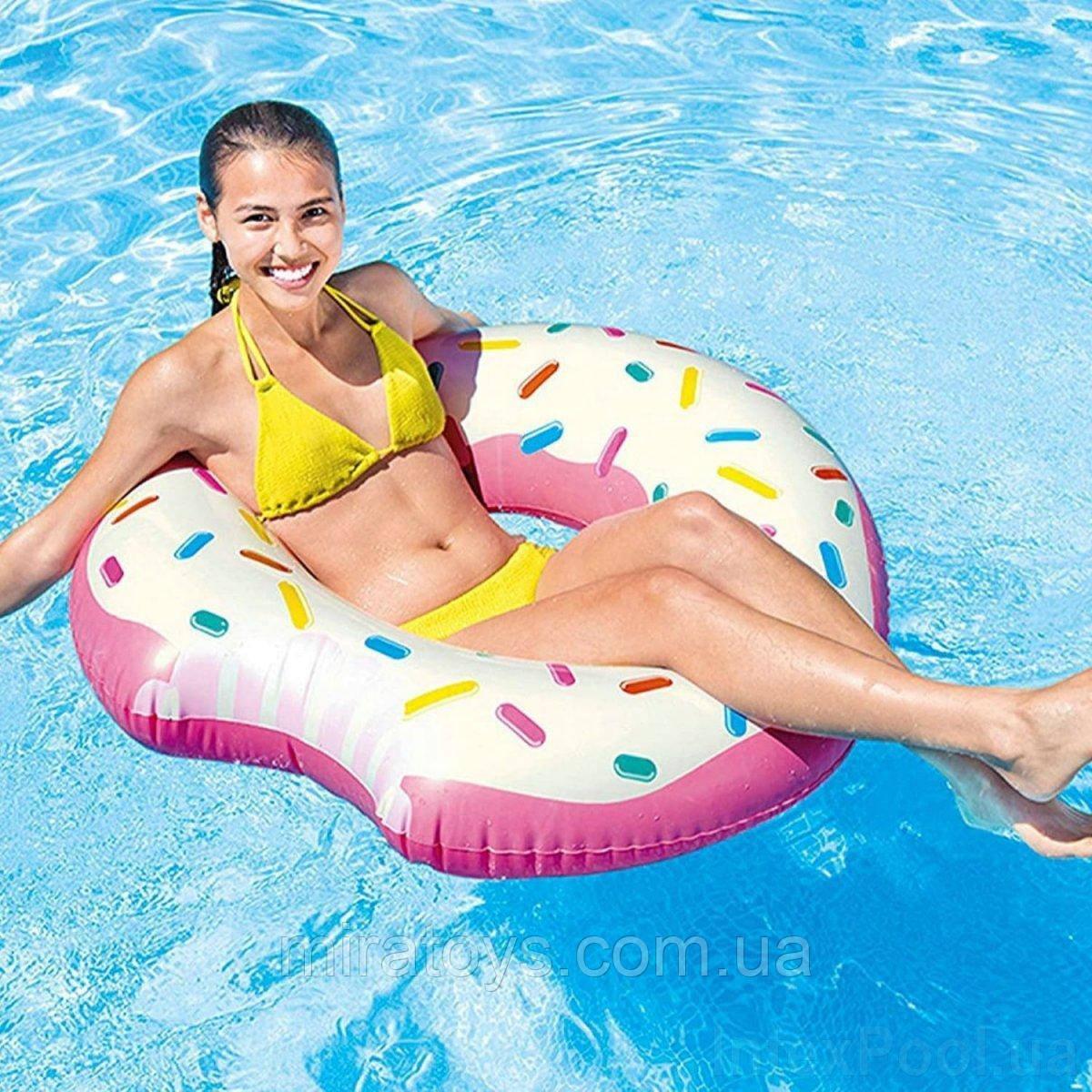 ✅Надувной круг Intex 56265 «Пончик», 107 х 99 см