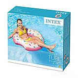✅Надувной круг Intex 56265 «Пончик», 107 х 99 см, фото 3