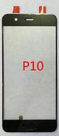 Стекло (для ремонта дисплея) Huawei P10 (VTR-L09/VTR-L29), черное, оригинал
