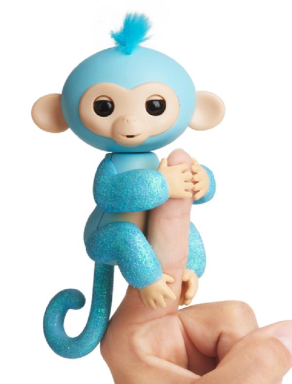 Интерактивная гламурная ручная обезьянка (голубая) Амелия Fingerlings W3760/3761