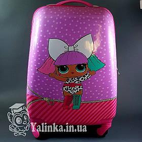 Дитячий дорожній валізу на 4-х колесах лялька Лола 600-1