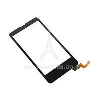 Сенсор (тачскрін) Nokia X Dual Sim (RM-980) чорний копія