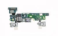 Шлейф Samsung E700F Galaxy E7, с гнездом зарядки, наушников, микрофоном , Home, сен