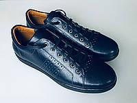 Кеды, кроссовки, туфли. Синяя кожа. Перфорация. 41р (27.3см)