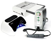 Фрезер для ногтей 65Вт Лампа для геля и гель-лака 48Вт и Вытяжка для пыли 858-13