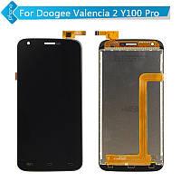 Дисплей (LCD) Doogee Y100/ Y100 Pro/ Valencia 2 + сенсор чёрный