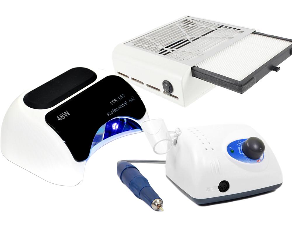 Фрезер для ногтей Стронг 210 105L Лампа для геля и гель-лака 48Вт и Вытяжка для пыли 858-13
