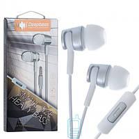 Наушники с микрофоном Deepbass D-12 серебристые