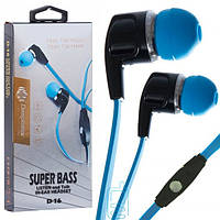 Наушники с микрофоном Deepbass D-16 черно-синие