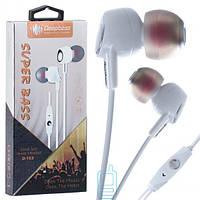 Наушники с микрофоном Deepbass D153 белые