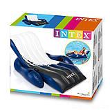 ✅Надувной шезлонг - кресло Сooler Z Intex Intex 58868, 180 х 135 см, черно-белый, фото 3
