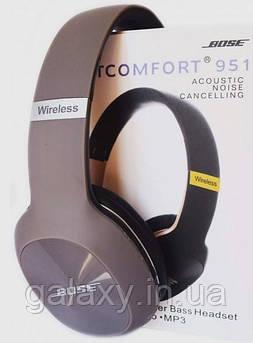Наушники беспроводные с шумоподавлением SD FM радио Bluetooth складные 951