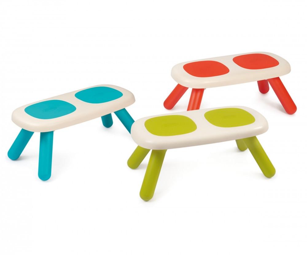 Скамейка без спинки детская SMOBY TOYS, 3 вида ( голубая , салатовая , красная), 18мес.+, 880300