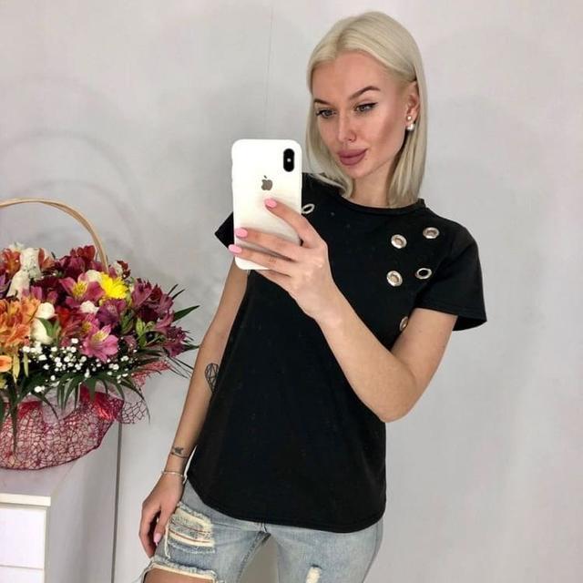 летняя футболка, женская футболка, что модно летом 2019