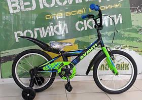 """Велосипед AVANTI 18"""" LION 2017 чорний/салатовий AV000096"""