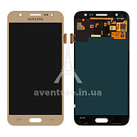 Дисплей (LCD) Samsung J500 Galaxy J5/ J500F/ J500M TFT (подсветка оригинал) + сенсор золотой
