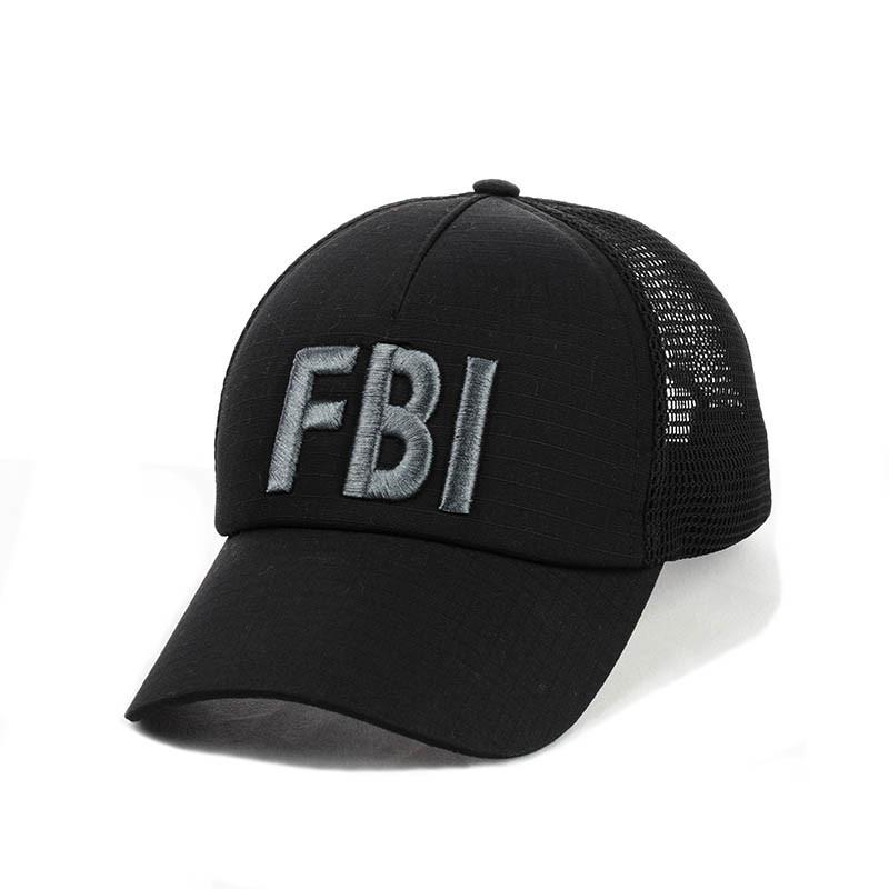 """Коттоновая Кепка- бейсболка с сеткой """"FBI"""""""