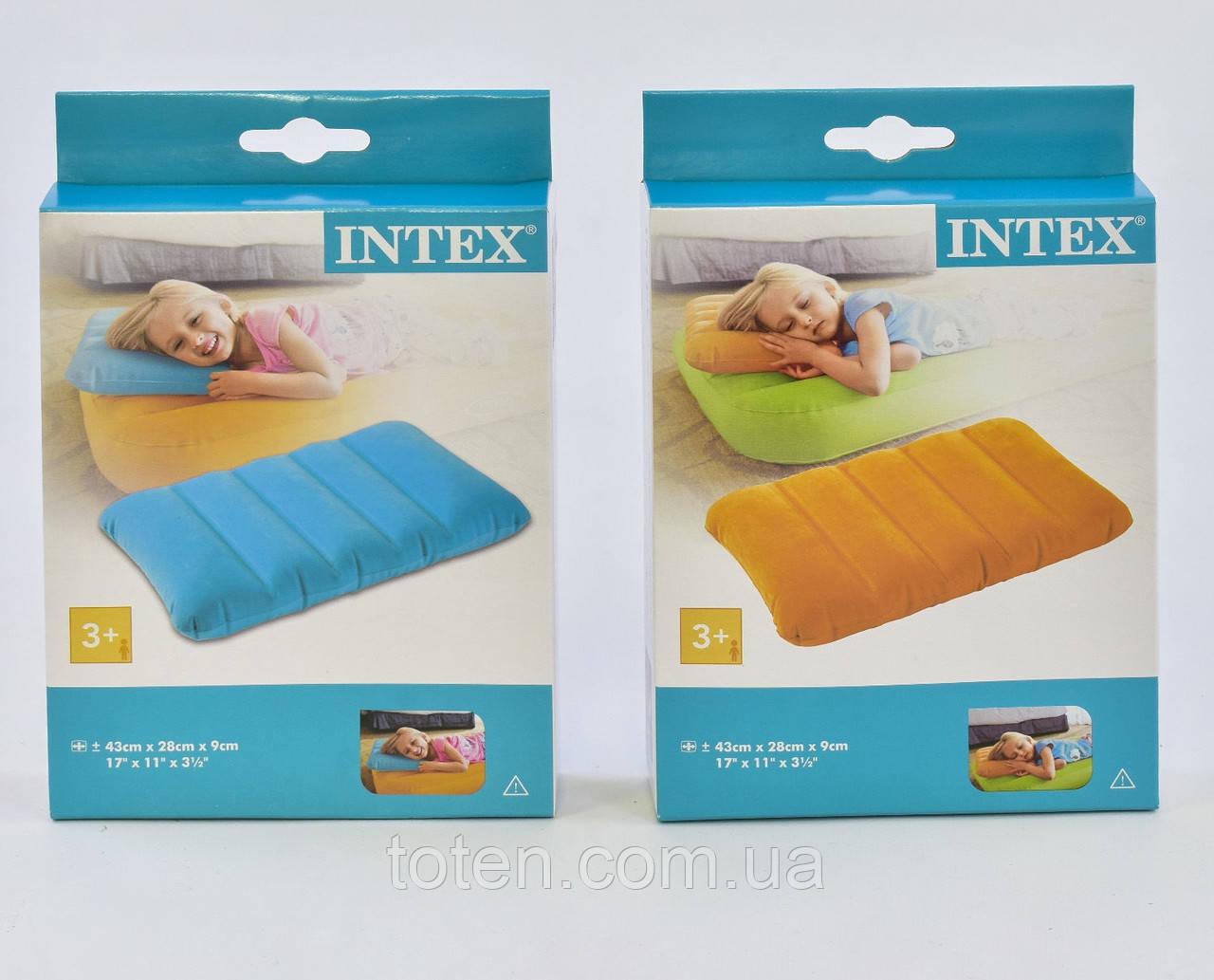Надувная подушка Intex 68676. 3 цвета
