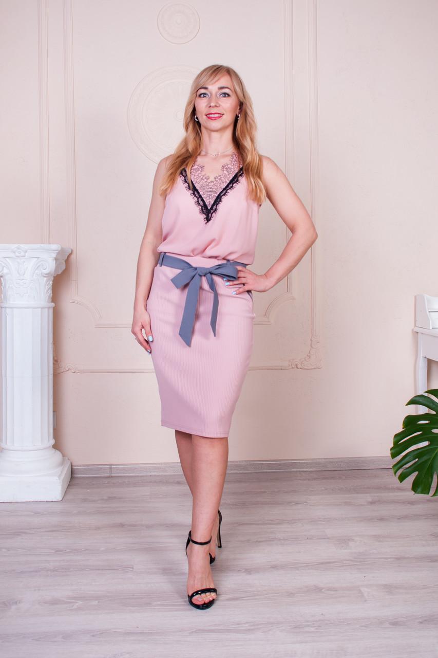 Молодежная летняя юбка Снижана розовая
