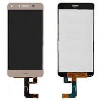 Дисплей (LCD) Huawei Y5 II (CUN-U29/ Honor 5/ Honor Play 5) + сенсор золотой (версия 3G)