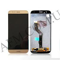 Дисплей (LCD) Huawei G8 (RIO-L01)/ GX8 + сенсор золотой