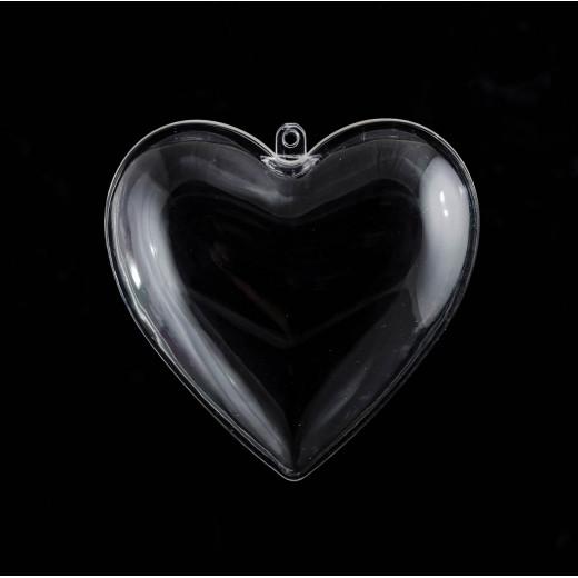 """Набір пластикових форм """"Серце"""", 10см, 5шт / уп"""