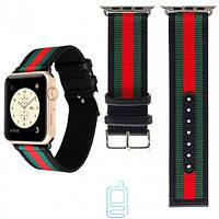 Ремешок Apple Watch Gucci Design 42mm черно-красный
