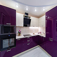 Фиолетовая (баклажановая) кухня на заказ ViAnt - лидер продаж Киев, Ирпень, Буча, фото 1