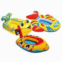 Детский надувной плотик Intex 59380, 3 вида: от 3 лет (нагрузка до 23кг)