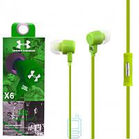 Наушники с микрофоном JBL X6 зеленые