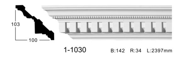 Карниз потолочный с орнаментом Classic Home 1-1030, лепной декор из полиуретана