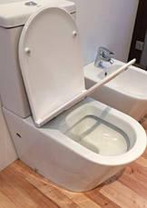 Унитаз напольный безободковый VolleNemo Rimless 13-17-377 сиденье твердое Slim slow-closing, фото 2