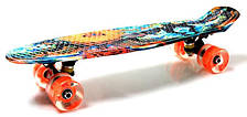 Скейт Penny Board Blur светящиеся колеса (hub_CJqF36313)
