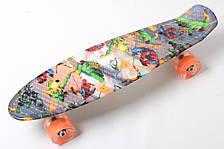 Скейт Penny Board Heroes Светящиеся колеса (hub_OkCR49698)