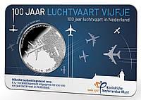 Нидерланды 5 евро 2019 г. 100 лет авиации в Нидерландах