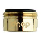 💧Водосберегающий аэратор насадка для крана DROP CL24-GLD, внешняя резьба 24мм, цвет золото, фото 2