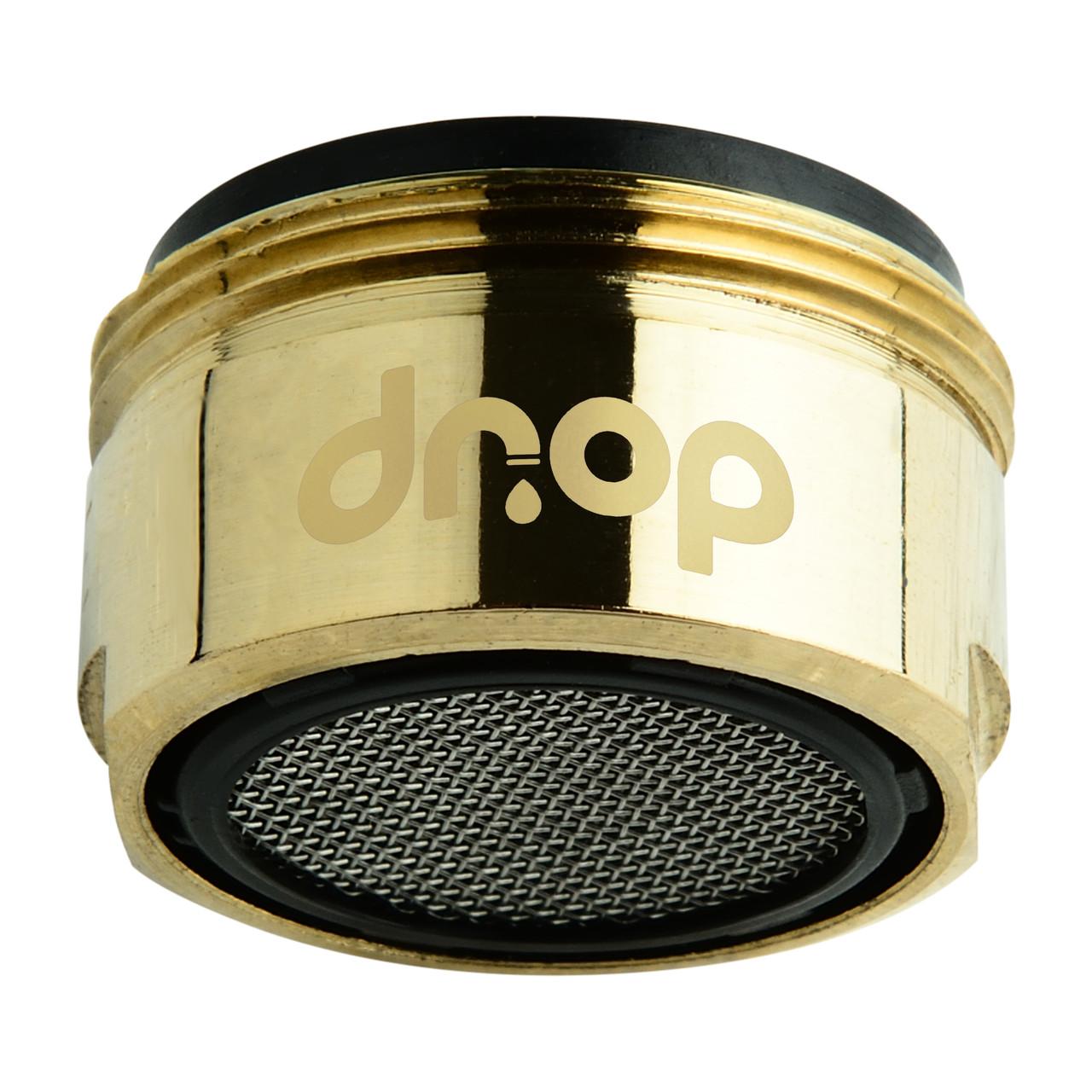 💧Водосберегающий аэратор насадка для крана DROP CL24-GLD, внешняя резьба 24мм, цвет золото
