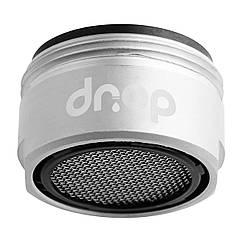 Водосберегающий аэратор DROP CL24-MT в кран, расход 5л/мин, внешняя резьба 24мм, матовый хром